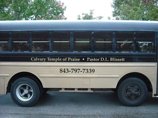 Vinyl Bus Lettering