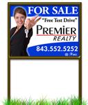 Click Here Start Designing Your Custom Real Estate Yard Sign. Frames Sold Separately.