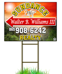 Click Here to Start Designing Your Corrugated Real Estate Sign. Stakes Sold Separately.