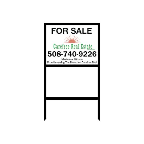 18x24 Black Iron Riderless Real Estate Frame 5 Pack