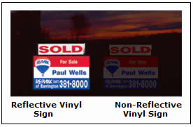 Reflective Vinyl Graphic Signs.