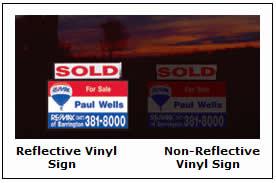 Reflective Vinyl Graphic Signs.