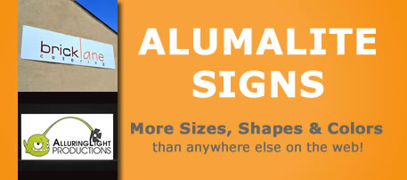 Custom Alumalite Signs Alumalite Metal Signs Lightweight