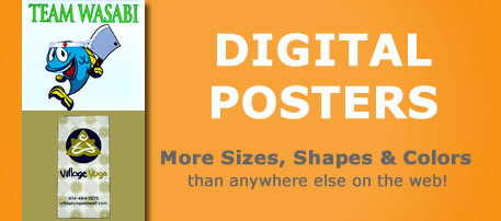 custom full color poster printing small or large format posters