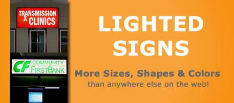 Replacement Sign Faces Lexan Plastic Signs For Lighted C