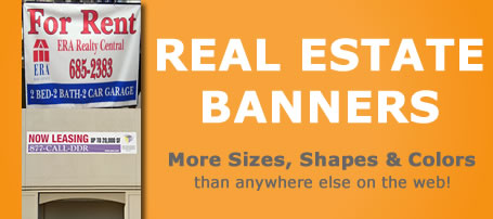 Real Estate Banners For Sale Signs