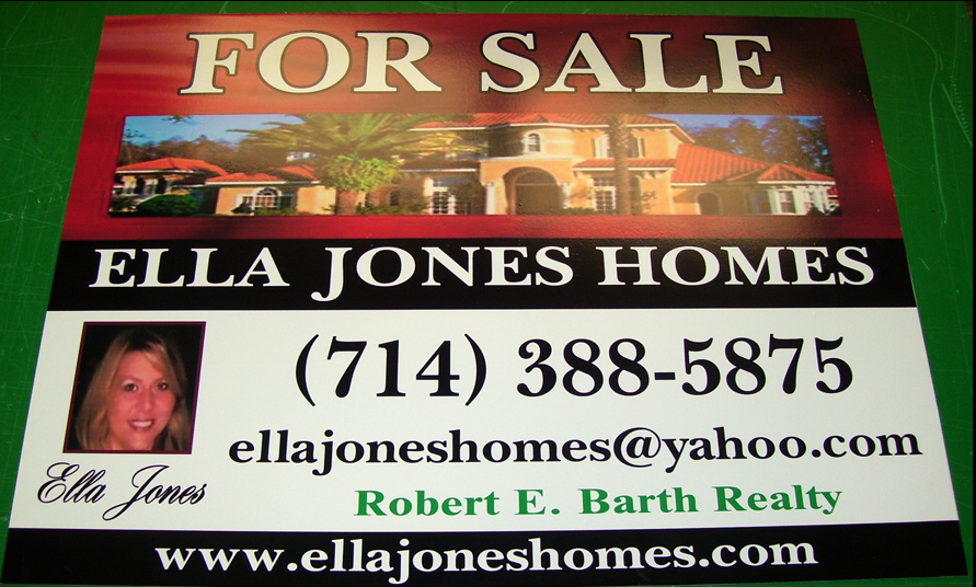 Example of Aluminum Real Estate Sign