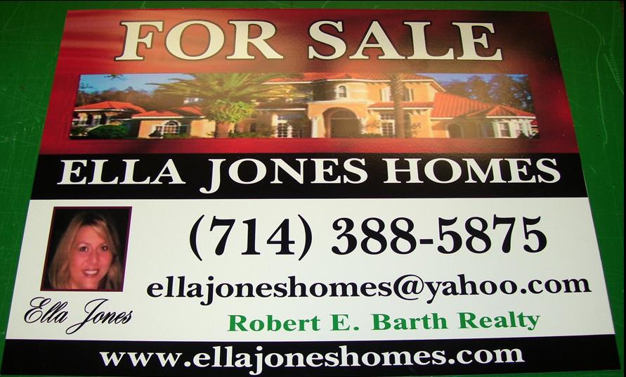 Aluminum real estate sign