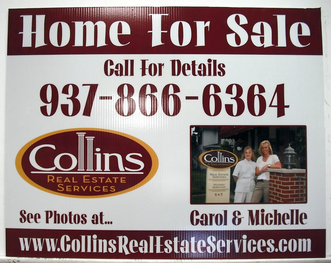 An example of a coroplast sign for real estate