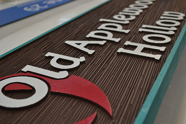 Example of custom 3-D wooden sign