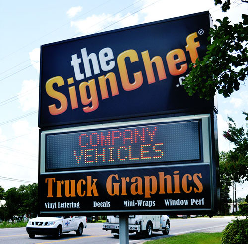 Outdoor lighted signs the basics of roadside signs for your business example of lighted sign aloadofball Images