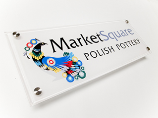 Acrylic Plastic Sign with Stand offs