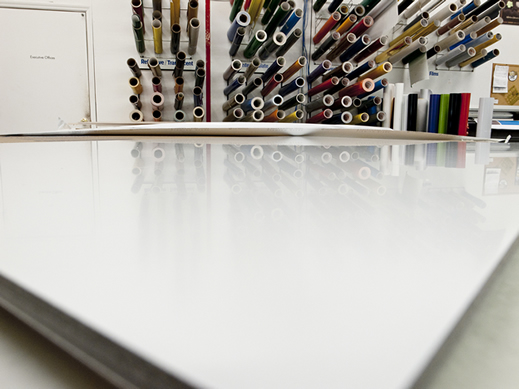 Blank Business Sign Material in Sign Shop