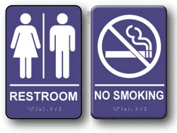 Example of Indoor ADA Signs