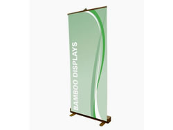 Example of Bamboo Retractable Banner Stand