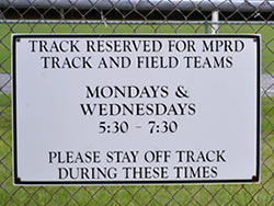 Example of an Alumalite Fence Sign