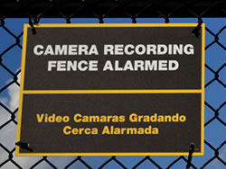 Example of a Dibond Fence Sign