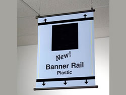 Example of Plastic Banner Rail Sign Hardware