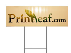 Example of Coroplast Custom Landscaping Signs