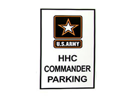 Example of an Aluminum Military Sign