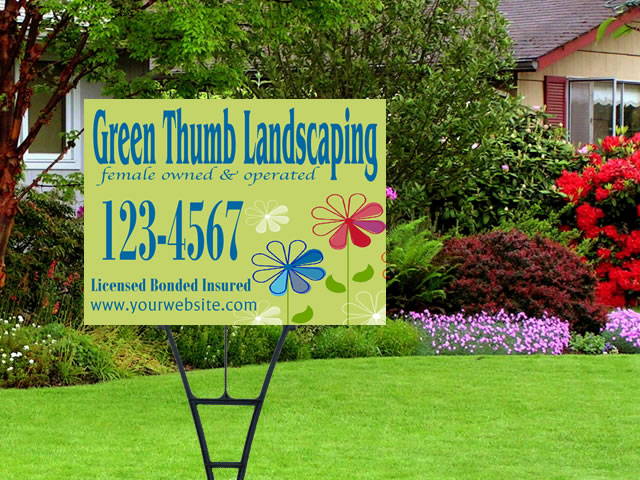 Example of Custom Landscaping Sign