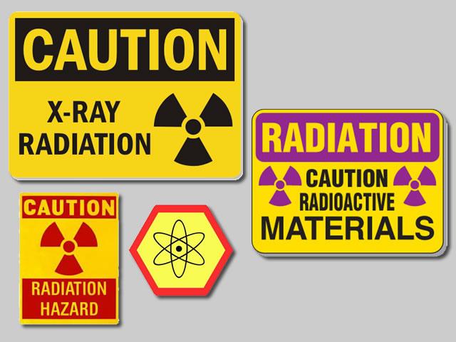Example of Custom Radiation Signs