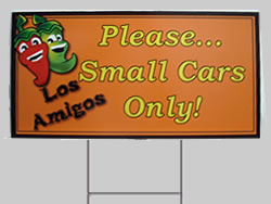 Example of a Coroplast Restaurant Sign
