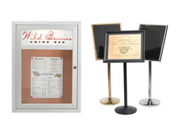 Example of a Restaurant Sign and Menu Display
