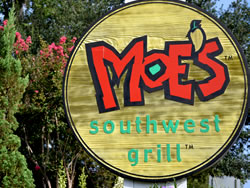Example of a Sandblasted Redwood Restaurant Sign