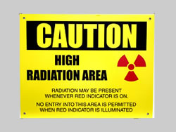 Example of Custom Aluminum Radiation Sign