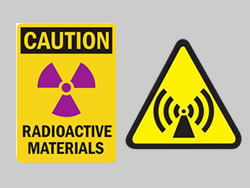 Example of Custom Dibond Radiation Sign