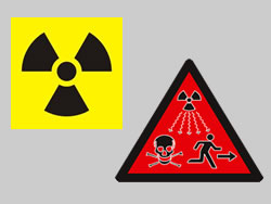 Example of Custom Dura-Wood Radiation Sign