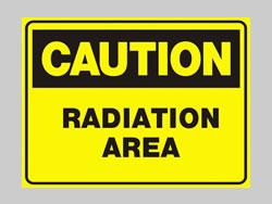 Example of Custom Coroplast Radiation Sign