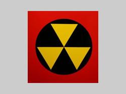 Example of Custom Alumalite Radiation Sign