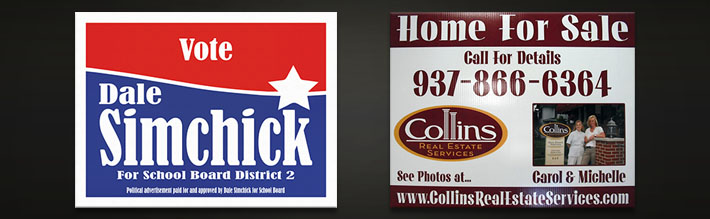 Real Estate and Political Campaign Signs