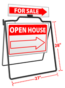Swing Sidewalk Sign With Rider And Side Pennant Holder