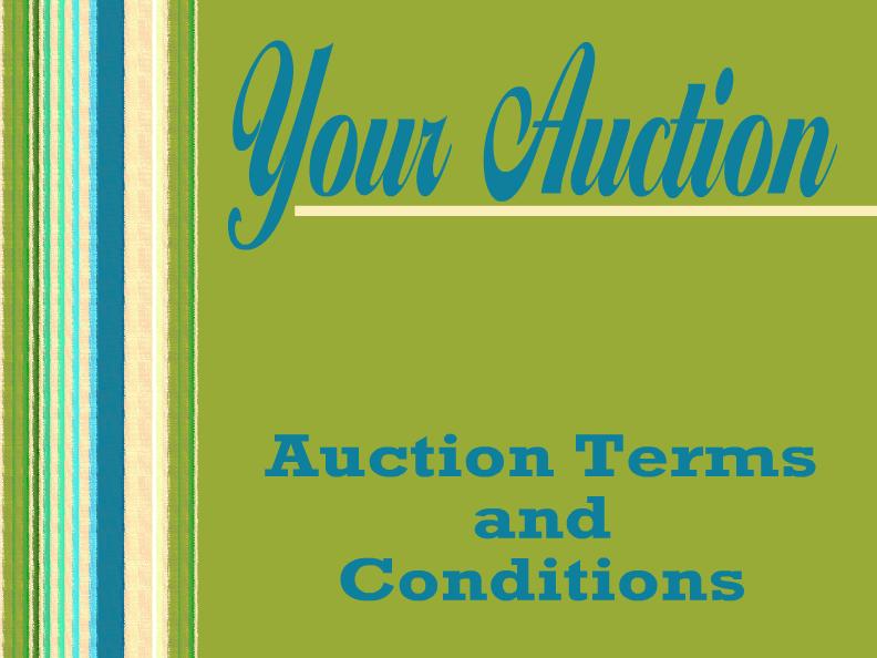 auction templates. Black Bedroom Furniture Sets. Home Design Ideas