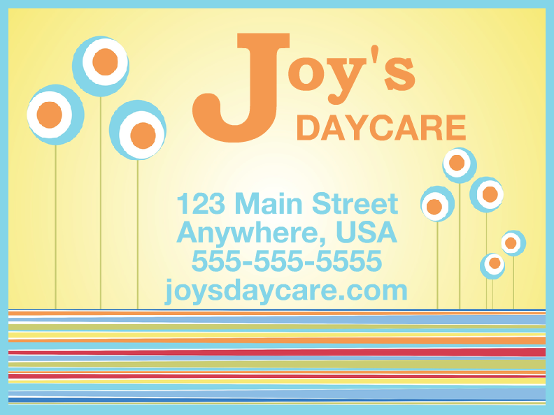 daycare templates