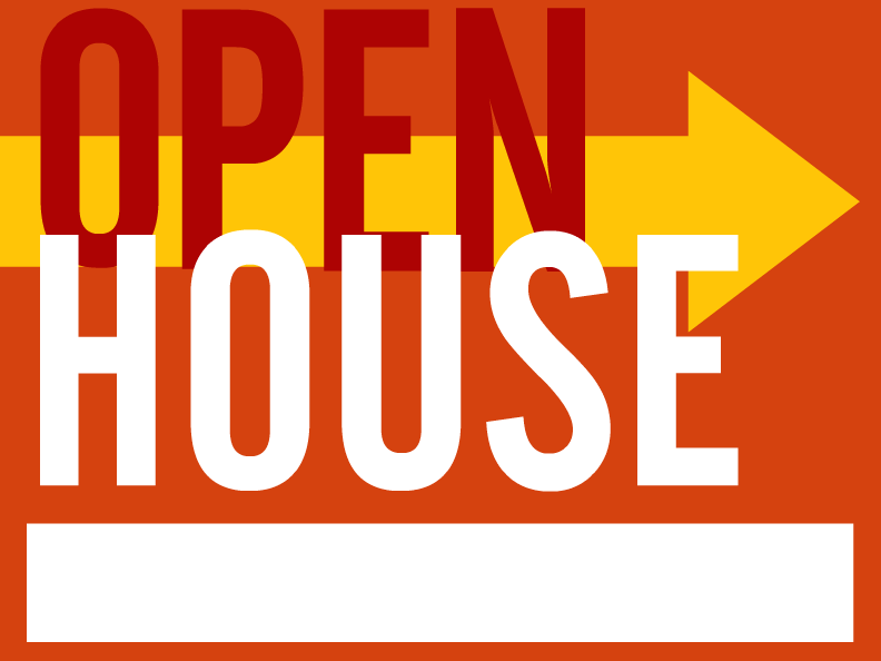 Browse open house yard sign templates