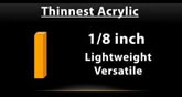 Acrylic Thickness Options
