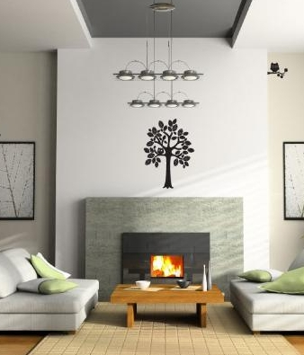 family room wall lettering